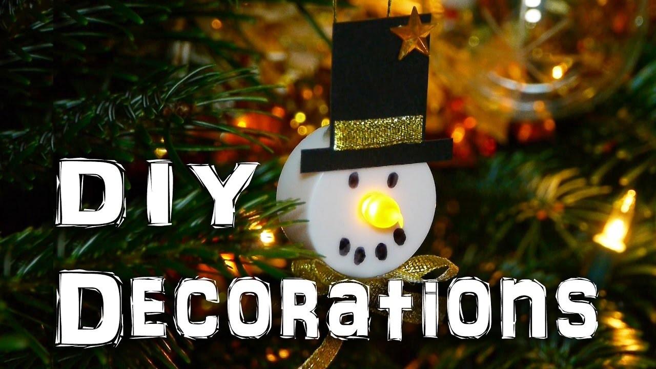 DIY Snowman Decorations - Christmas Holidays Craft Idea