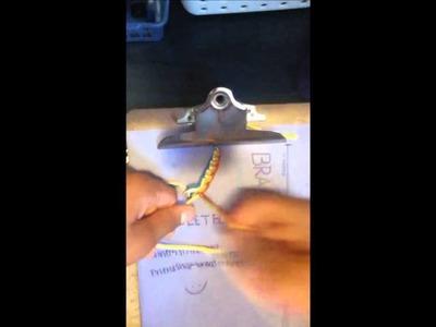 *Friendship bracelet tutorial- Single peruvian wave*