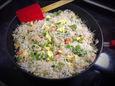 Healthy Chinese Chicken Fried Rice - Restaurant style by (HUMA IN THE KITCHEN)