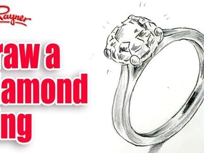 How to draw a diamond ring - Spoken Tutorial