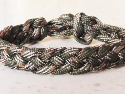 How To Make A Four Strand Braid Paracord Survival Bracelet