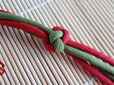 How to Make a Four Strand Footrope Knot. Four Strand Diamond Knot Tutorial