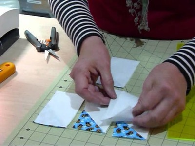 """How to make a Pinwheel Block using 2 1.2"""" strips and squares - Quilting Tips & Techniques 102"""