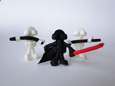 How to Make a Star Wars Themed Paracord Buddy- Darth Vader Without plastic head (Lego Inspired)