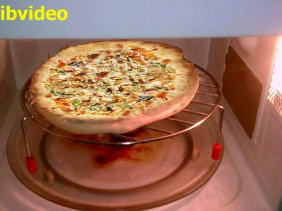 How to make Chicken Pizza - step by step in Microwave Oven
