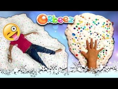 How to Make Giant Fluffy Slime with Orbeez! Mega DIY Slime How To!