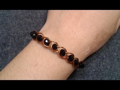 Tutorial simple knot bracelet - How to make wire jewelery