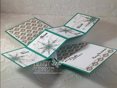 Twist Pop Up Card Fold using Stampin' Up Star Of Light