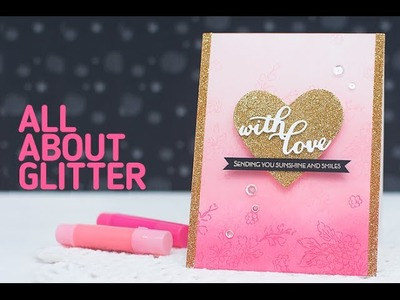 Valentine's Day Card with Gold Glitter Heart
