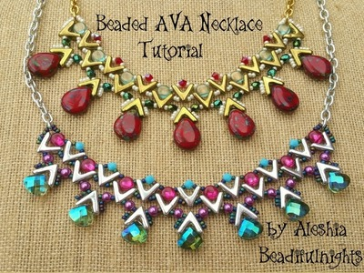 Beaded AVA Necklace Tutorial