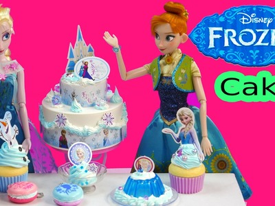 Disney Frozen Whipple Frosting 2 Tiered Birthday Cake with Queen Elsa & Anna - Cookieswirlc Video