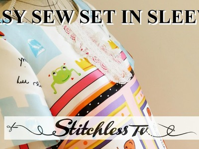 DIY how to sew a set in sleeve Easy