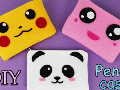 DIY Pencil Case I No Sew I Pikachu I Kawaii pencil case tutorial I Pokemon I DIY gifts