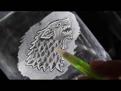 Glass Engraving for the Beginner - Game of Thrones Beer Mug Tutorial