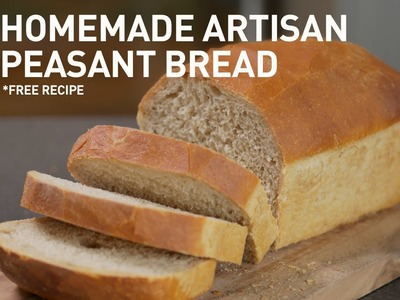 Homemade Artisan Peasant Loaf Bread (with free recipe)   Baking Tutorial with Zoë François