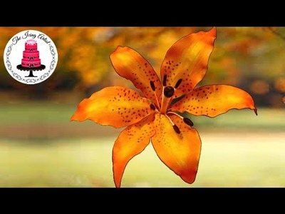 How To Make A Gumpaste Flower Lily - How To With The Icing Artist