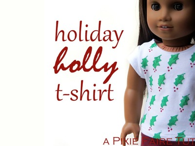 How to Make A Holiday Holly Tee