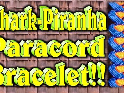 How To Make A Paracord Shark Jaw Bone-Piranha Knot Bracelet