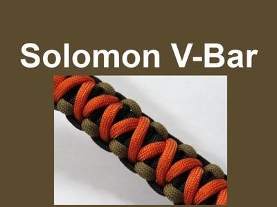 How to make a Solomon V Bar Paracord Bracelet Tutorial (Paracord 101)