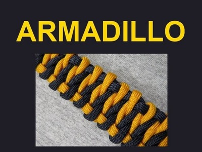 How to make an Armadillo Paracord Bracelet Tutorial (Paracord 101)