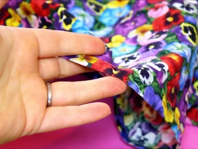 How To Press A Hem Quickly & Easily - Quick Sewing Tips by Sewing Bee Fabrics