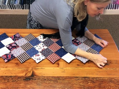 JORDAN FABRICS Jagged Edge Table Runner Tutorial - How To Sew A Jagged Edge Runner by Donna Jordan