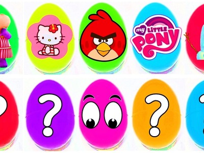 Lalaloopsy My Little Pony Angry Birds Loom Bands Frozen Shopkins 20 Surprise Eggs Videos