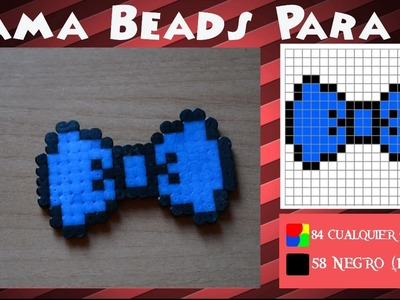 Lazo.Pajarita - Tutorial Hama Beads