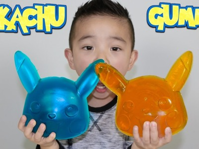 Making A Giant Pikachu Gummy Candy Sweets With CKN Toys Pokemon Go Candy