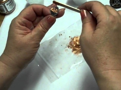 Making a Steampunk Ring, Secret Bezel, Glue Techniques with Pearl Ex