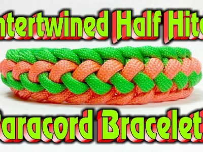 Paracord How To Make A Intertwined Half Hitch Bar Bracelet