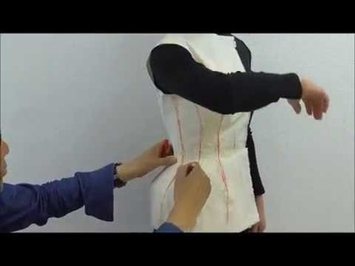 TR Cutting School-Moulage.Draping on Body by Shingo Sato-Corset Jacket-