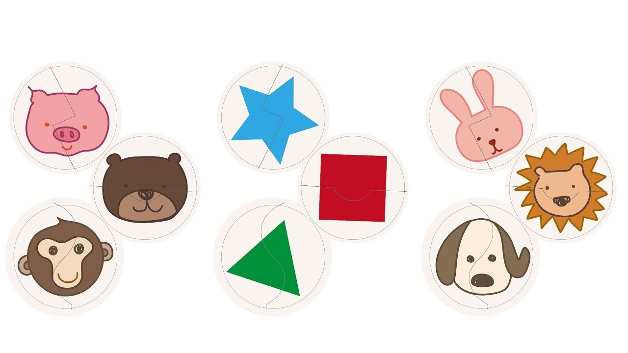 diy自制纸箱玩具--纸箱拼图 动物与形状 (版型分享) diy cardboard