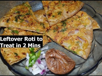 Convert Leftover Chapati, Roti to Delitious Treat in 5 Mins Smart recipe by Chawla's Kitchen