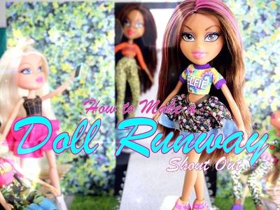DIY - How to Make:  Doll Runway:  Sneak Peek - Handmade - Doll - Crafts