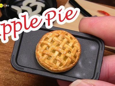 DIY Miniature Apple Pie (Fake food) ミニチュアアップルパイ作り