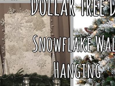Dollar Tree Christmas DIY - Large Snowflake Wall Art | Holiday Decor
