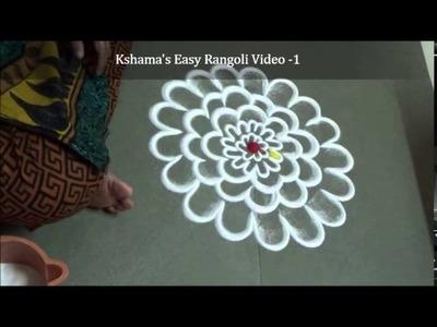 Easy Rangoli Designs by Kshama