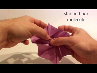 Folding a star and hex tessellation