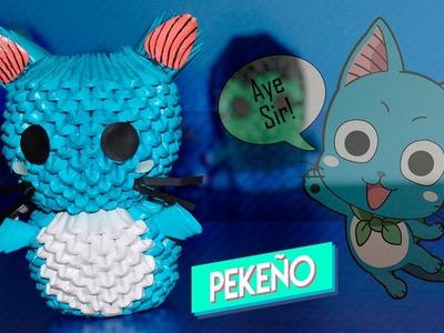 Happy (Fairy Tail) 3D Origami   Pekeño ♥