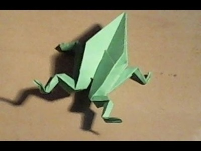 How to fold an origami frog. Hoe vouw je een origami kikker