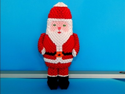 How to make 3d origami Santa Claus(2016) part 2