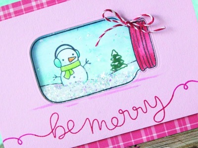 How to make a snow globe shaker card