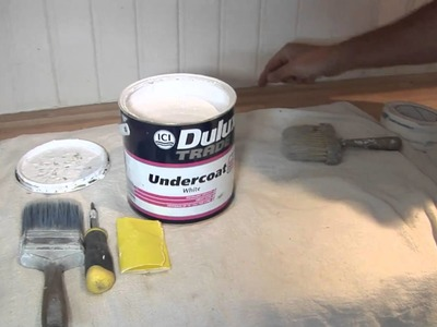 How To Paint Wood Panelling