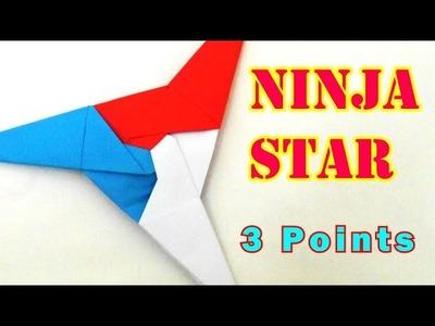Origami 3 Pointed Ninja Star (Jeremy Shafer) Tutorial!
