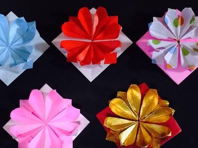 Origami Flower Pin      折り紙 花