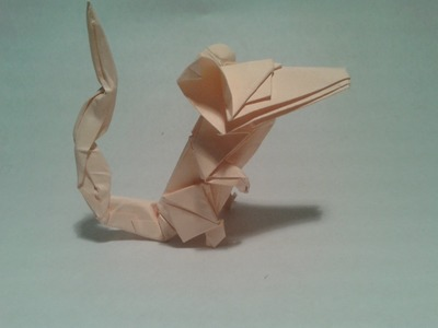 Origami - How to make an origami mouse (origami instructions)