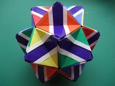 Origami - modular - flowered sonobe (Meenakshi Mukerji) - tutorial - dutchpapergirl