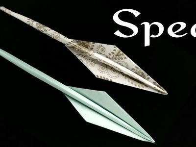 Origami tutorial - Paper 'Spear' - A4 sheet