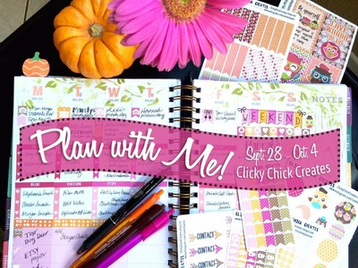 Plan with Me October 2015 Inkwell Press ft Clicky Chick Creates